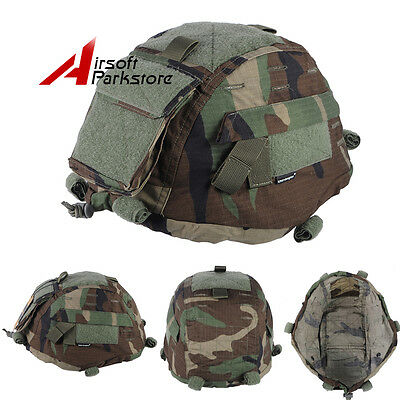 Emerson Tactical Helmet Cover for MICH 2000 ACH Helmet Paintball Woodland Camo