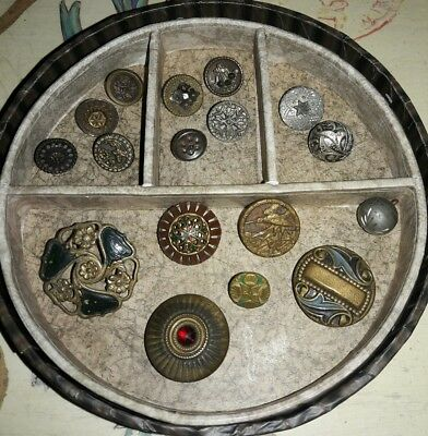 Antique Metal Steel Victorian Buttons