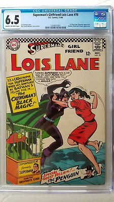 Superma's Girl Friend Lois Lane #70 CGC 6.5 Fine+   1st Catwoman App