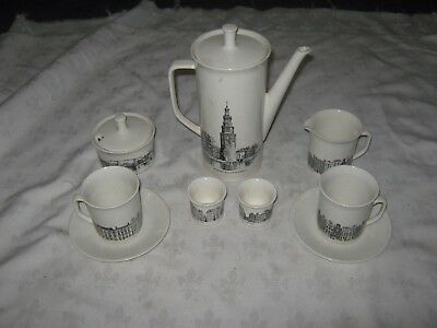 A 1960's Villeroy & Boch Luxembourg Amsterdam Architectural 2 Person Coffee Set