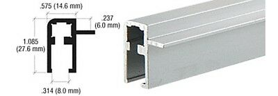 Satin Anodized Aluminum Side Top Rail Extrusion