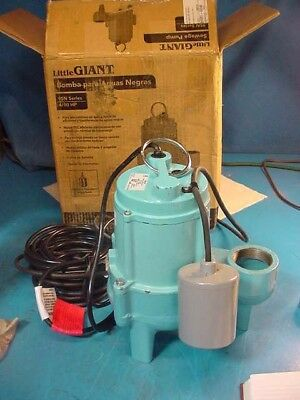 """Little Giant Submersible Sewage Pump 9SN-CIA-RF 4/10HP 2"""" Pipe Mechanical Float"""