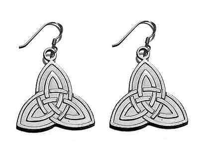 COOL CELTIC TRIQUETRA Dangle Charm Earrings Sterling Silver
