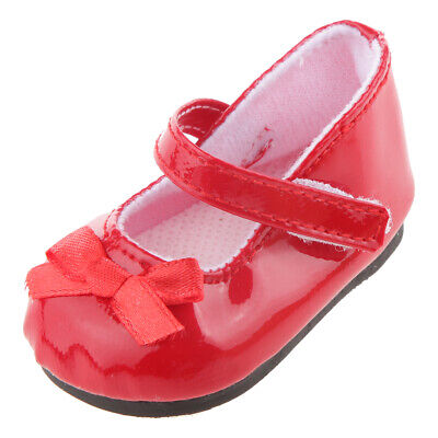 Fashion Red Flats Shoes w/ Bow for 18 inch American Girl Doll Party Clothes