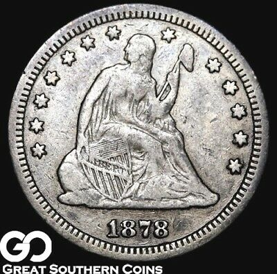 1878-S Seated Liberty Quarter, Very Scarce Key Date, Low Mintage! ** Free S/H