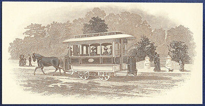 AMERICAN BANK NOTE Co. ENGRAVING: HORSE DRAWN CAR 96
