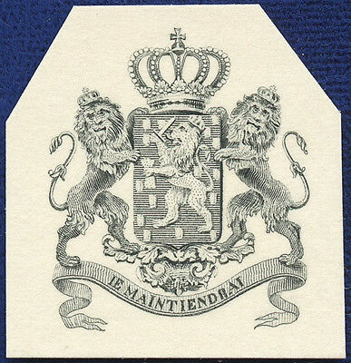 AMERICAN BANK NOTE Co. ENGRAVING: 161a NETHERLANDS CREST