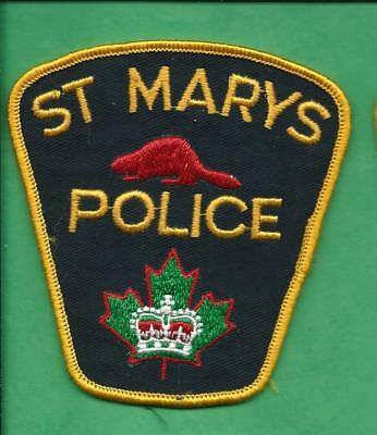 St. Marys Ontario Canada Police Patch