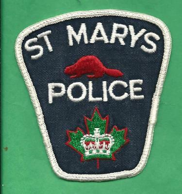 Older St. Marys Ontario Canada Police Patch