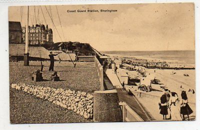 """""postcard Coast Guard Station,sheringham,norfolk,dated 1914"""""