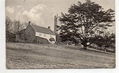 """""""""""postcard The School House,brent Knoll,somerset,dated 1906"""""""""""