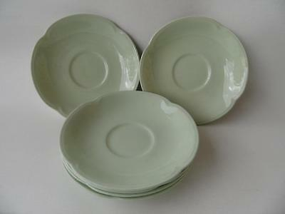 5 X Vintage Johnson Bros England Greendawn Tea Saucers