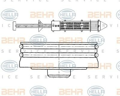 Hella Dryer, Air Conditioning 8ft 351 197-381 for Ford - Seat - VW