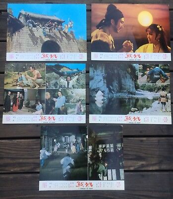 Lot Of 5 Chinese HK Lobby Card Forced To Fight Movie Poster Kung Fu Film 1970s