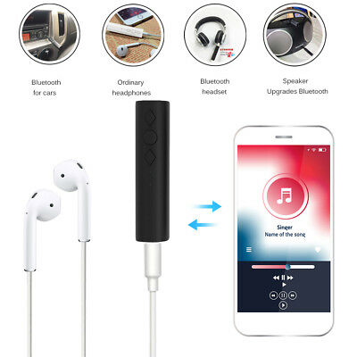 3.5mm Wireless Bluetooth AUX Audio Stereo Music Home Car Receiver Adapter Mic