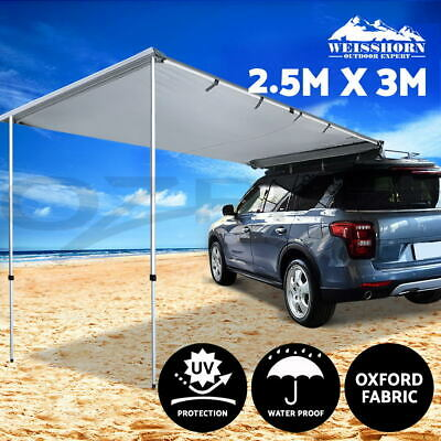 3M X 3M Car Side Awning Extension Roof Rack Cover Tents Shades Camping 4X4 4WD