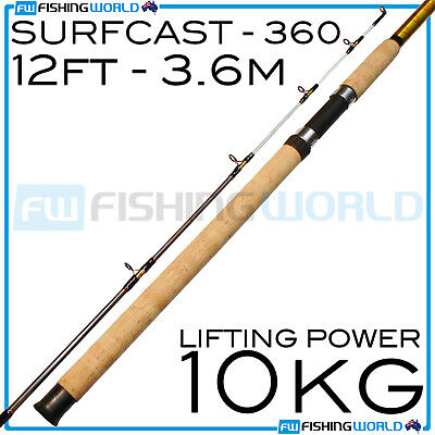 CATALYST : SURF CAST 360 - 12ft 10kg 3.6m PREMIUM SURF FISHING ROD