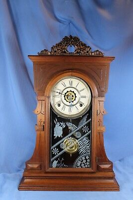 Waterbury Antique Parlor Mantel Clock Rare Original Beautiful/runs Great!