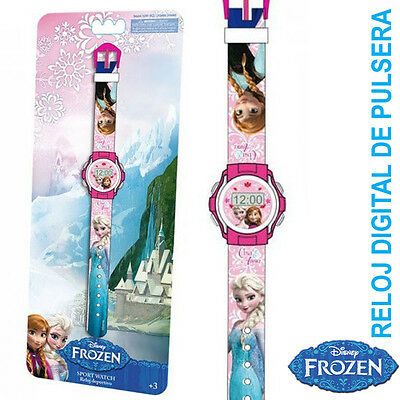 FROZEN Set Reloj Digital Infantil Muñeca Princesa Disney Nuevo Blister Regalo