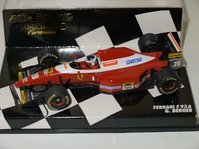 Minichamps 1993 Gerhard Berger Ferrari F93A Signed by Berger and Todt (Badly)