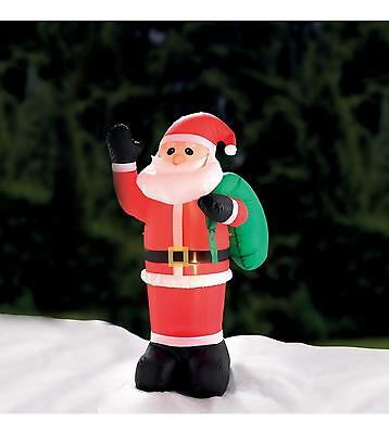 4Ft Self Inflating Outdoor Father Christmas Santa  Light Up Inflatable