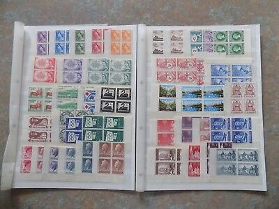 Australia 1953-1965 Collection Blocks 4 With 2 Margins Mnh-Mint Sets/issues