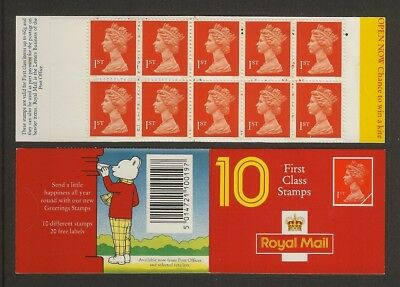 GB Stamps: Decimal Machin Barcode Booklet HD14.