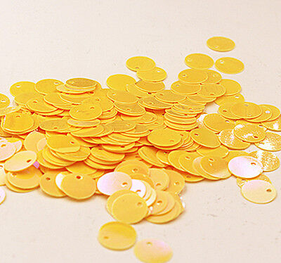Shiny AB Oval Round Yellow Tool 10mm 200pc Loose Weddings Sewing Craft DIY Flat