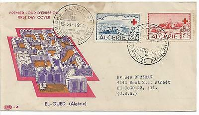 Algeria 1952 Red Cross Fund First Day Cover Sg 320 321  Ref 1255
