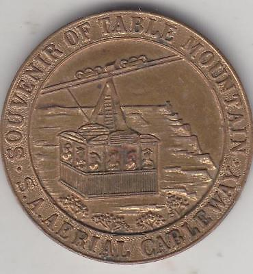1929 Table Top Mountain Cable Car Medal, South Africa  D2