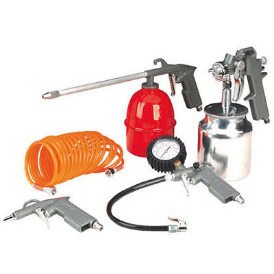 5Pc Air Compressor Kit Spray Gun Tools Compressed Accessories Hose Tool Diy New