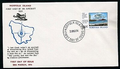 Norfolk Island 1974 1st Aircraft to Visit - Unaddressed FDC