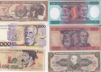12 Different Brazil Banknotes, South America   D26