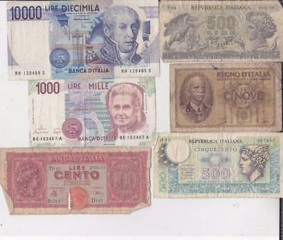 12 Different Italy Banknotes   D28