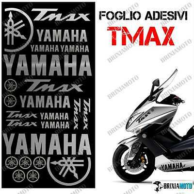 Stickers Decal Tmax T Max 08/11 Set Sheet Stickers 500 Graphic Silver