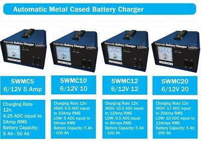 Streetwize Metal Durable Car & Motorbike 12V 12Amp Automatic Battery Charger