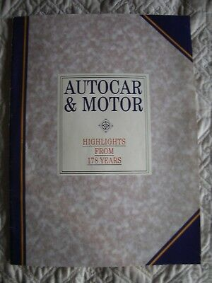 Autocar & Motor Highlights from 178 Years - road tests, etc.