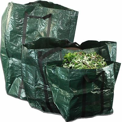 125L Strong Garden Bag Waste Refuse Rubbish Grass Sack Waterproof Reusable Large
