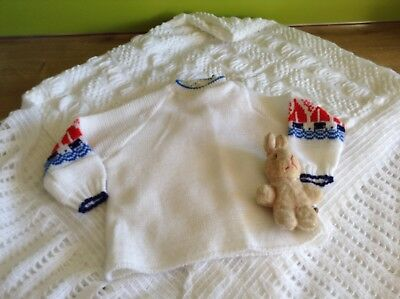 AUTHENTIC VINTAGE 1970s UNUSED BABY BOYS/GIRLS CHILDRENS TOP/JUMPER 3/ 6 months
