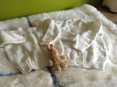 AUTHENTIC VINTAGE 1970s UNUSED BABY TWO CHILDRENS CARDIGANS  9/12 months