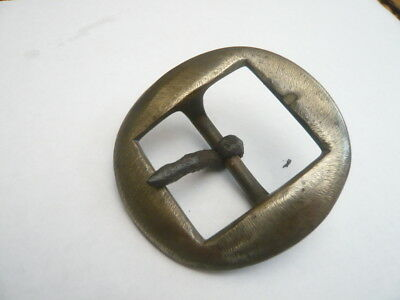 Antique Vintage Old Victorian Brass Belt Buckle Ideal Leather For Strap Belt