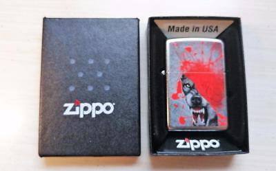 New Zippo Wolf Lighter w/ Box ~ 7-F6096