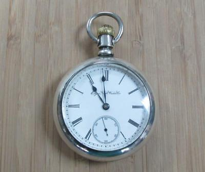 Antique 1888 Elgin Pocket Watch with Coin Silver Case; 11-Jewels 12-G580