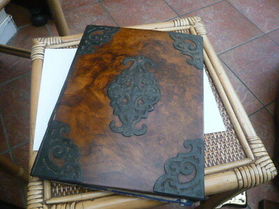 Antique Vintage Old Victorian Georgian Desk Top Document Book Blotter Stunning