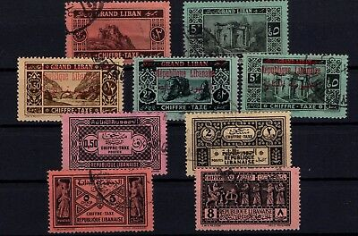 P43265/ Grand Liban / Lebanon / Postage Due / Lot 1925 - 1931 Obl / Used 119 €