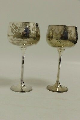 Pair of Silver Plated Wine Goblets (SL12)