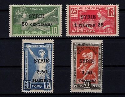 P43283/ Syrrie / Syrria / Sport / Maury # 127 / 130 Neufs * / Mint Mh 180 €