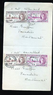 Vintage 1946 Cover  to Montserrat GPO Plymouth BL1306