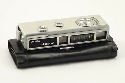 """Vintage Subminiature 4"""" Slim Spy Camera With Case Untested"""