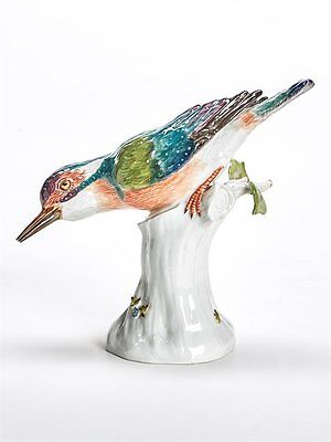 Vintage Meissen Porcelain Kingfisher 20Th C